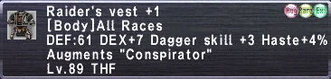 Raider's Vest +1