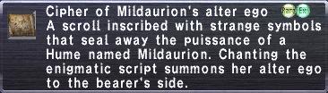Cipher: Mildaurion