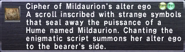Cipher: Mildaurion