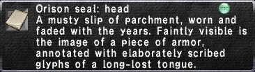 Orison Seal: Head