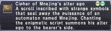 Cipher: Mnejing