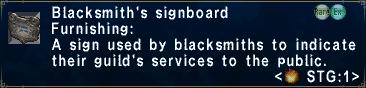 Blacksmith's Signboard