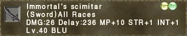 Immortal's Scimitar
