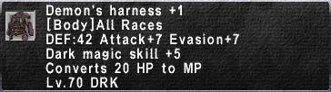 Demon's Harness +1