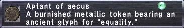 Aptant of Aecus