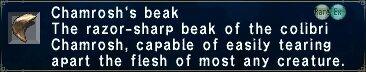 Chamrosh's Beak