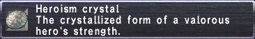 Heroism Crystal