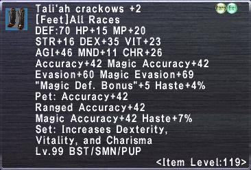 Tali'ah Crackows +2
