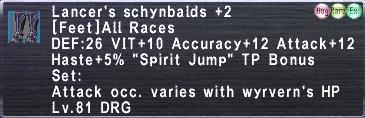 Lancer's Schynbalds +2