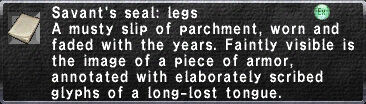 Savant's Seal: Legs