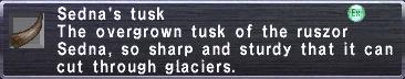 Sedna's Tusk
