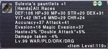 Sulevia's Gauntlets +1