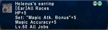 Helenus's Earring
