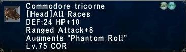 Commodore Tricorne