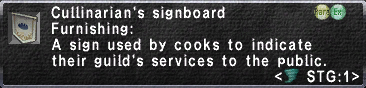 Culinarian's Signboard