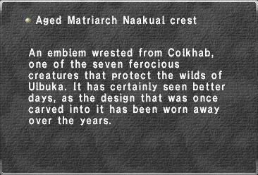Aged Matriarch Naakual crest