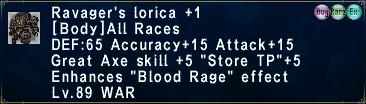 Ravager's Lorica +1