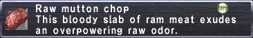 Raw Mutton Chop