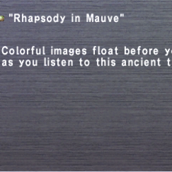 Rhapsody in Mauve