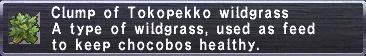 Tokopekko Wildgrass