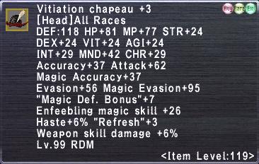 Vitiation Chapeau +3