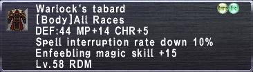 Warlock's Tabard