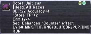 Cobra Unit Cap