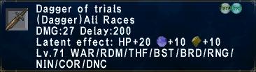 Dagger of Trials