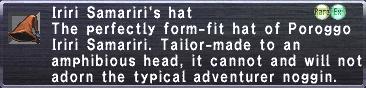 Iriri Samariri's Hat