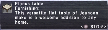 Planus Table