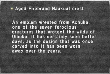 Aged Firebrand Naakual crest