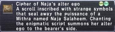 Cipher: Naja