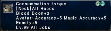 Consummation Torque