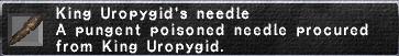 King Uropygid's Needle