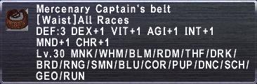 Mercenary Captain's Belt