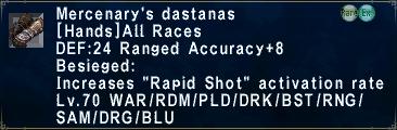 Mercenary's Dastanas