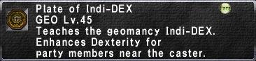 Plate of Indi-DEX
