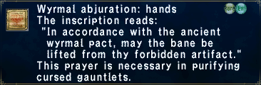 Wyrmal Abjuration: Hands