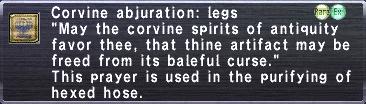 Corvine Abjuration: Legs