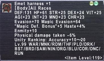 Emet Harness +1