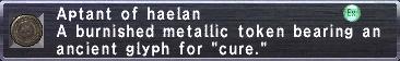 Aptant: Haelan