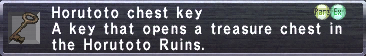 Horutoto Chest Key