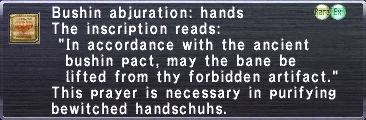 Bushin Abjuration: Hands