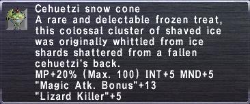 Cehuetzi Snow Cone