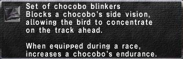 Chocobo Blinkers