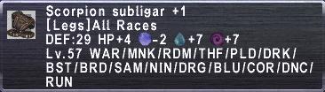Scorpion Subligar +1