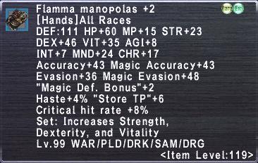 Flamma Manopolas +2