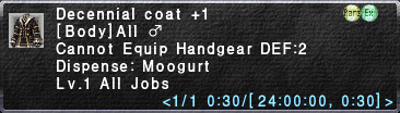 Decennial Coat +1
