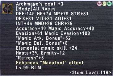 Archmage's Coat +3