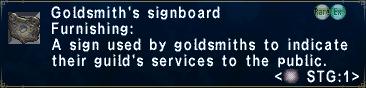 Goldsmith's Signboard